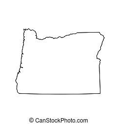 mapa del estado, u..s.., oregón