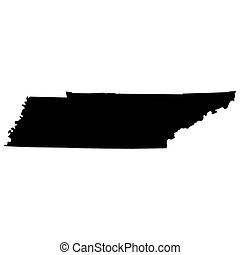 mapa del estado, u..s.., tennessee