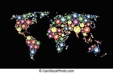 Mapa del mundo de las Gemas
