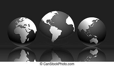 Mapa del mundo: ilustración mundial