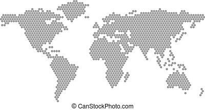 Mapa del mundo vector