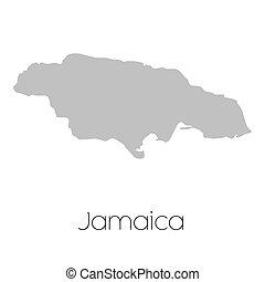Mapa del país de Jamaica