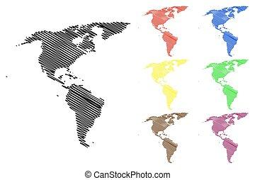 Mapa del vector de América