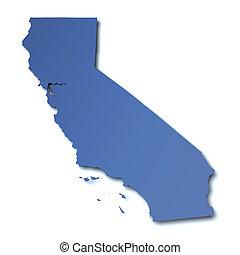 mapa, -, estados unidos de américa, california