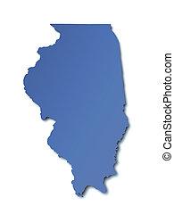 mapa, -, estados unidos de américa, illinois