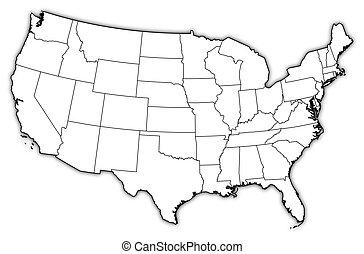 Mapa - Estados Unidos