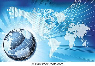 mapa, globo, palabra, plano de fondo, tierra