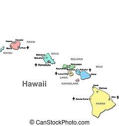 mapa, hawai