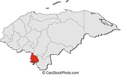 Mapa... honduras, criado