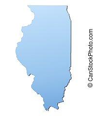 mapa, illinois(usa)