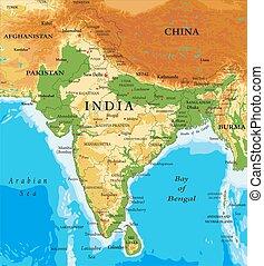 mapa, india-relief