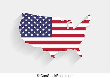 Mapa insignia de los Estados Unidos en el fondo gris, vector, ilustración, eps 10 archivo