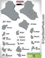 mapa, irak