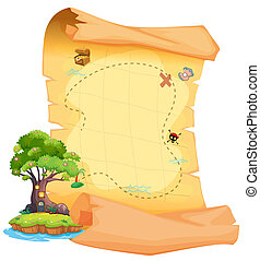 mapa, isla del tesoro