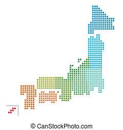 mapa, japón