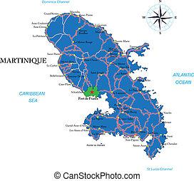 Mapa Martinica