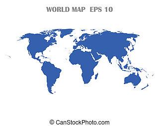 Mapa mundial aislada