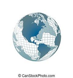 Mapa mundial, globo 3D