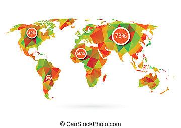 Mapa mundial poligonal