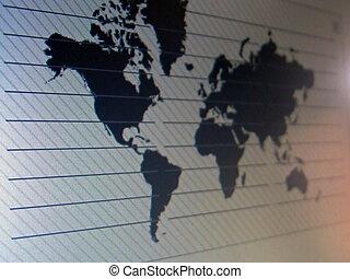 mapa, pantalla, mundo, tft, macro