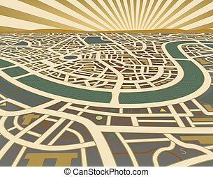 mapa, perspectiva