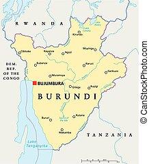 Mapa política Burundi
