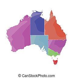 Mapa política de australia