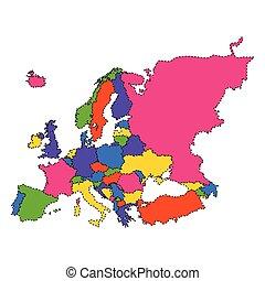 Mapa política de Europa