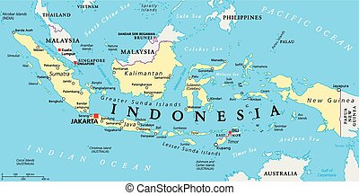 Mapa política de Indonesia