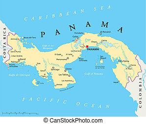 Mapa política de Panamá