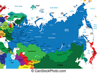 Mapa política de Rusia