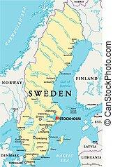 Mapa política sueca