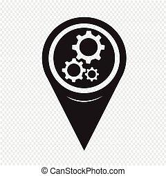 Mapa puntero icono