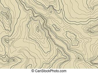 mapa, resumen, topográfico