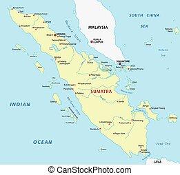 mapa, sumatra