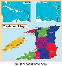 mapa, tobago, trinidad