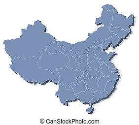 mapa, vector, república, gente, china, (prc)
