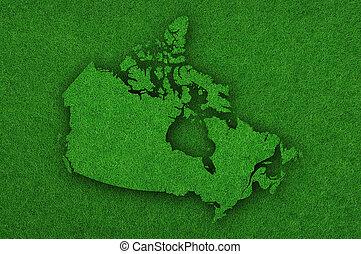 mapa, verde, canadá, fieltro