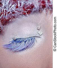 Maquillaje de ojos navideños
