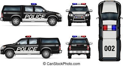 Maquillaje de vehículo de la policía