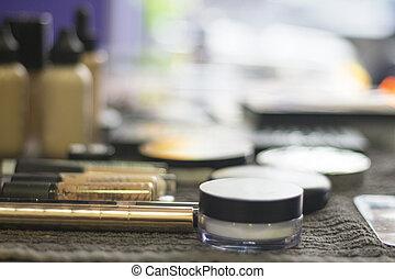 maquillaje, variedad, tabla