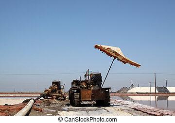 Maquinaria de producción de sal