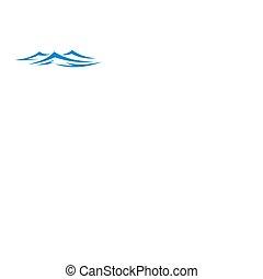 mar, ondas, océano, salpicaduras, aislado
