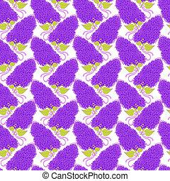 Maravillosas ramas de flores lilas en colores violetas. Bien por Wal