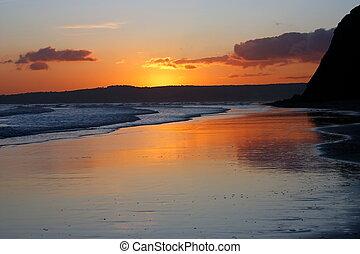 maravilloso, devon, sunset.