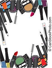 marca, aislado, arriba, vector, cosméticos, plano de fondo, ilustraciones, blanco