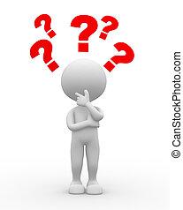 Marca de preguntas. Confusión