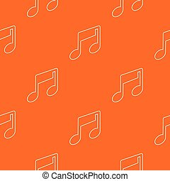 Marca musical vector naranja