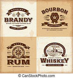 Marcas antiguas de alcohol