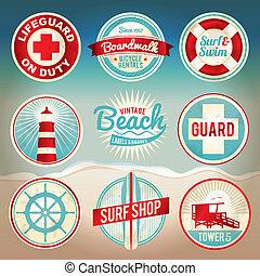 Marcas de playa y placas